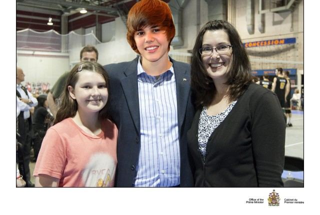 Prime Minister Bieber Mila and Kelly May 2011