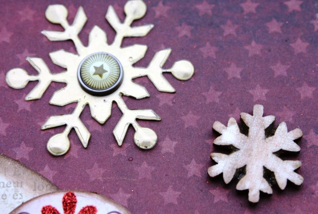 two snowflakes on layout
