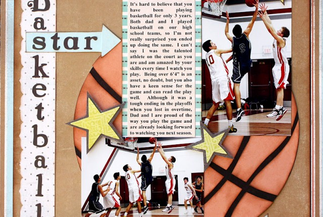 Basketball Star by Kelly Klapstein April Sketchy Challenge
