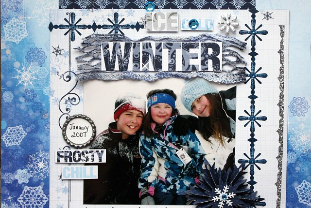 Ice Cold Winter by Kelly Klapstein ScrapThat January 2013 GDT