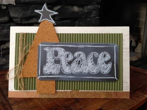 Peace xmas card