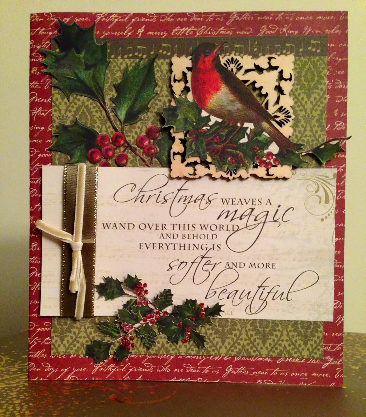 kaisercraft christmas cards  kelly creates
