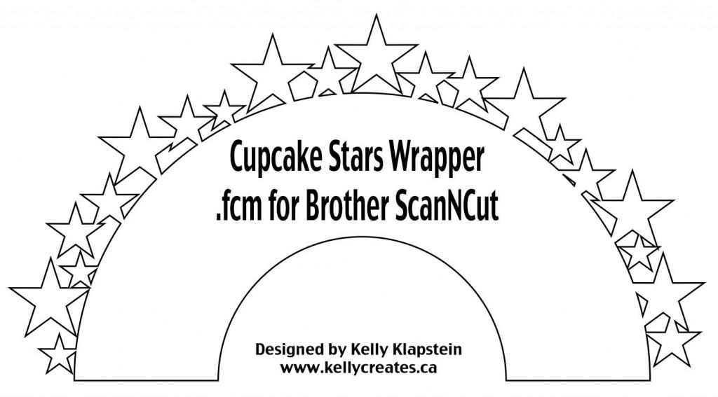Cupcake Wrapper Stars fcm