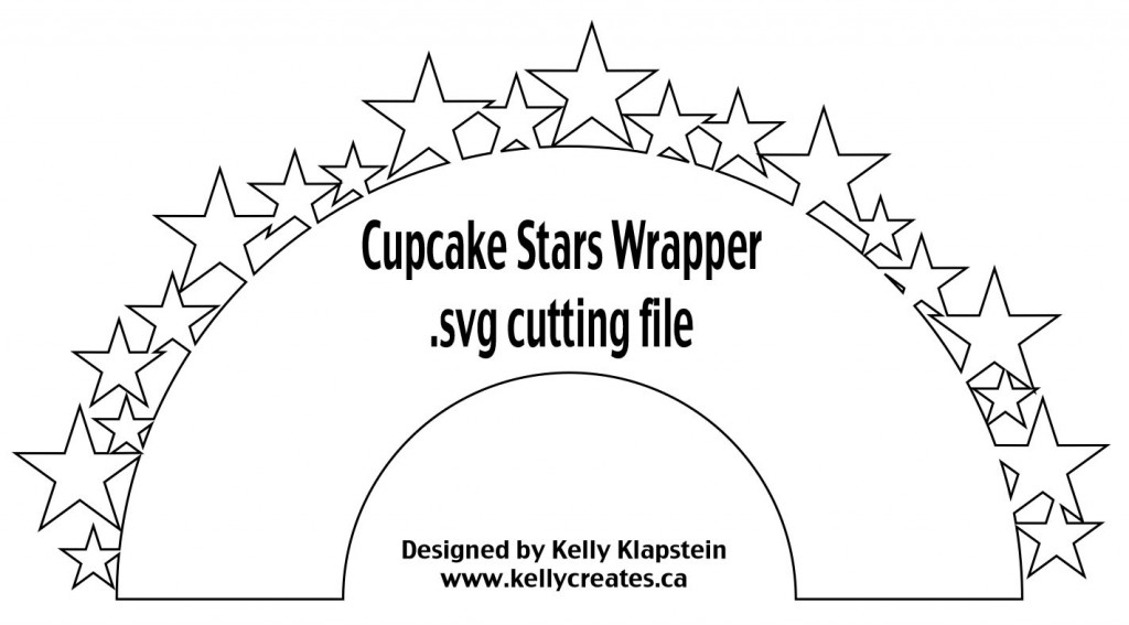 Cupcake Wrapper Stars svg