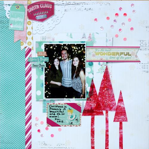 @kellycreates #bobunny #christmas #scrapbooking #layout