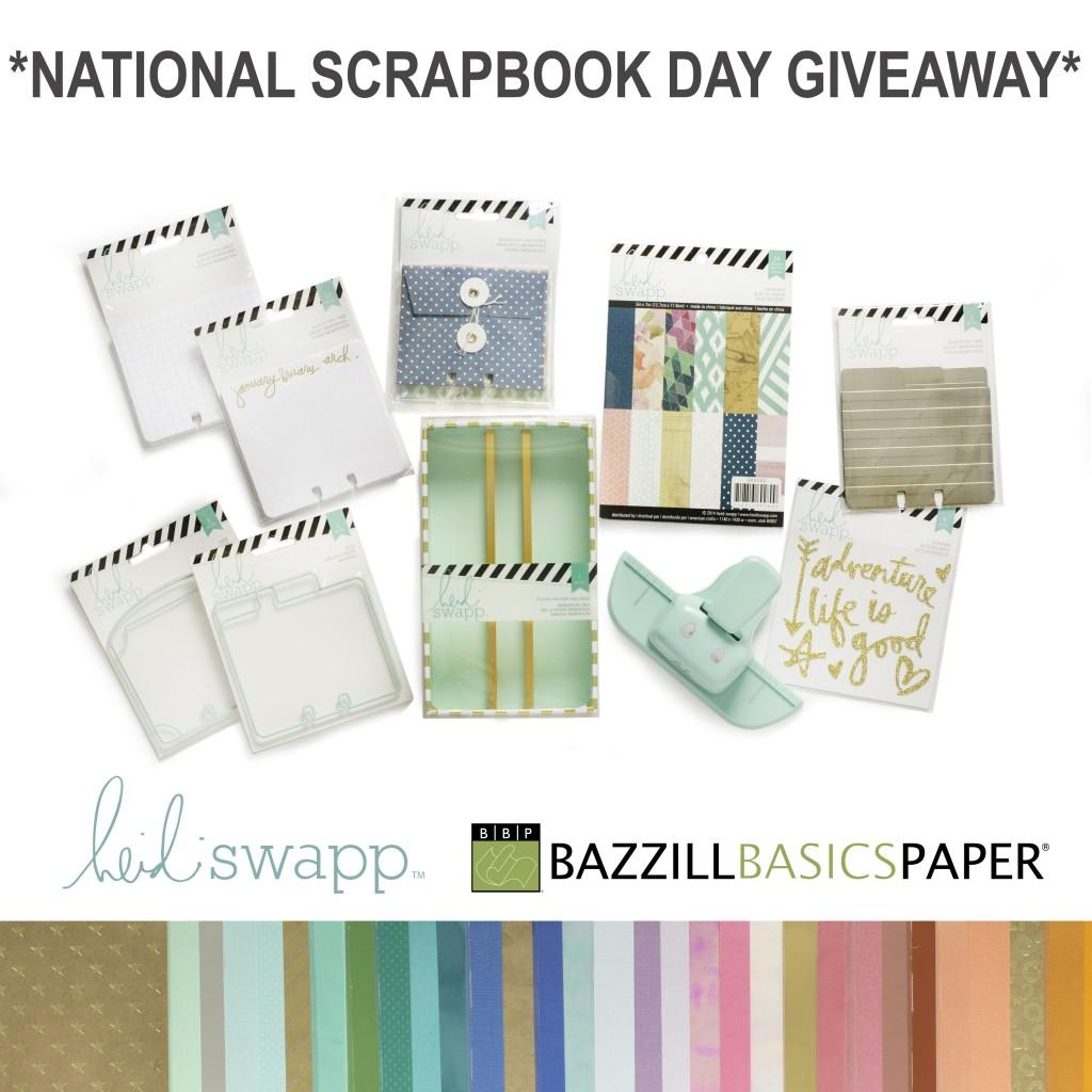 @kellycreates @bazzillbasicspaper #scrapbooking #giveaway