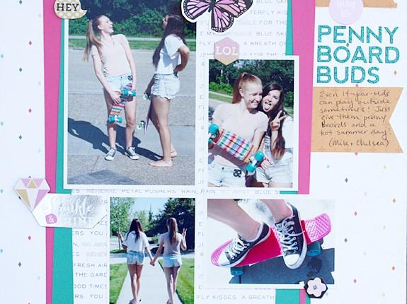 @bazzillbasicspaper @kellycreates #pinkpaislee #citrusbliss