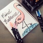 @kellycreates @tombowusa #watercolor #flamingo #sketch #artjournaling