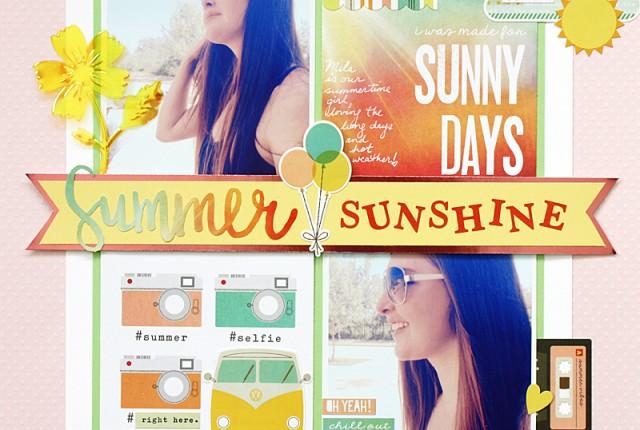 @kellycreates @cdnscrapbooker @bazzillbasics #scrapbooking #layout #summer #simplestories