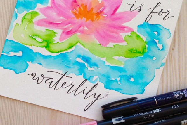 @kellycreates @tombowusa #watercolor #paint #art #lettering