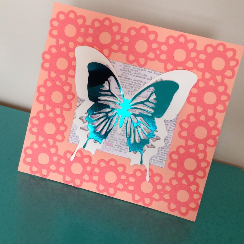 @kellycreates @bazzillbasics #scrapbooking #cardstock #butterfly #frame #homedecor