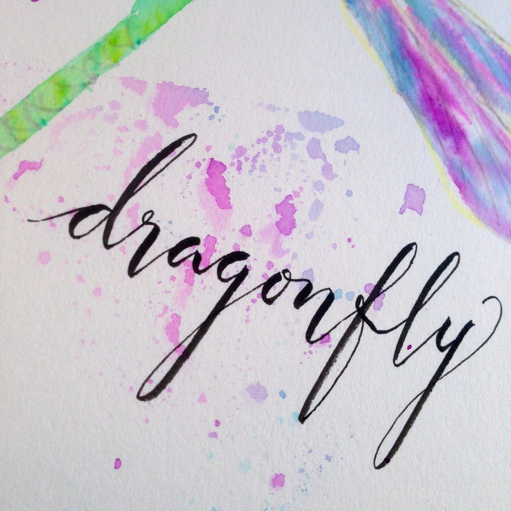 @kellycreates @tombowusa #watercolor #dragonfly #tombow