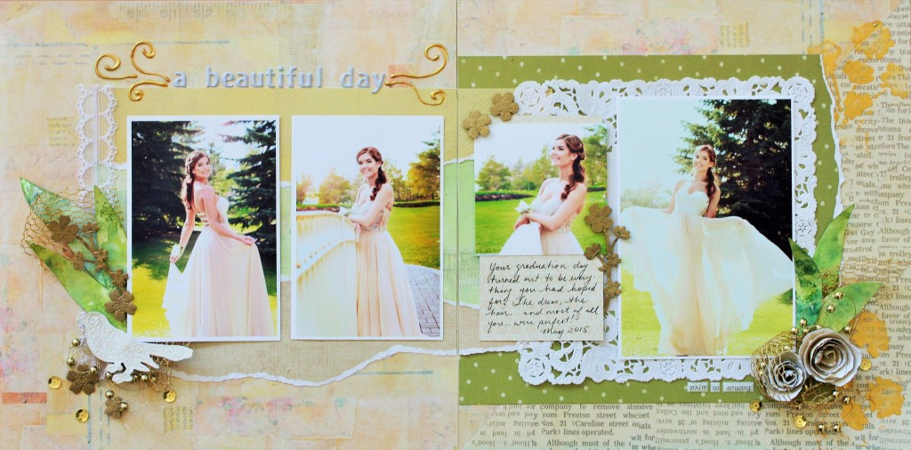 @kellycreates @cdnscrapbooker #scrapbooking #double #layout #momenta #tombow #mayarts