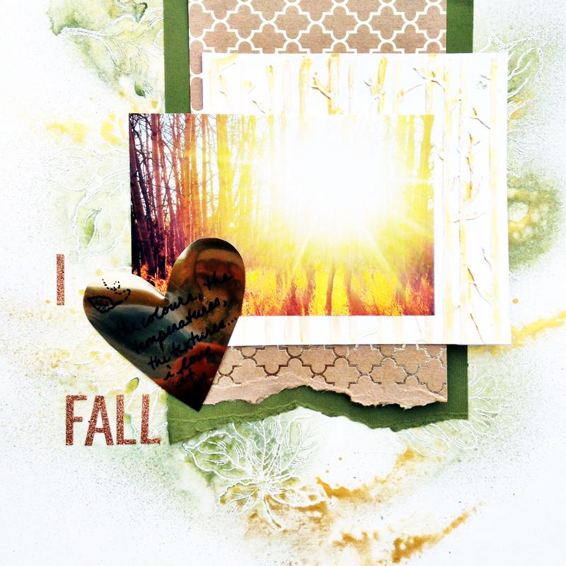 @kellycreates @bazzillbasics #scrapbooking #fall #texture #layout