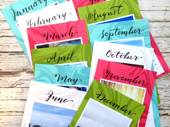 @kellycreates @bazzillbasics @tombowusa #handlettering #calendar #DIY #handmade #homedecor