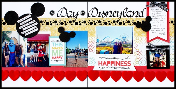 @kellycreates @csmscrapbooker @creativememories #disney #disneyland #mickeymouse #scanncut #double #layout