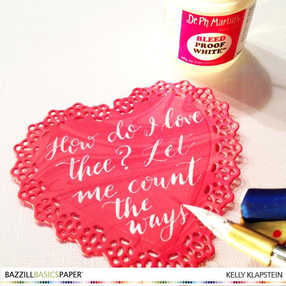 @kellycreates @bazzillbasics #valentine #card #scrapbooking #calligraphy