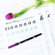 111 kellyklapstein launch photo brush lettering worksheets