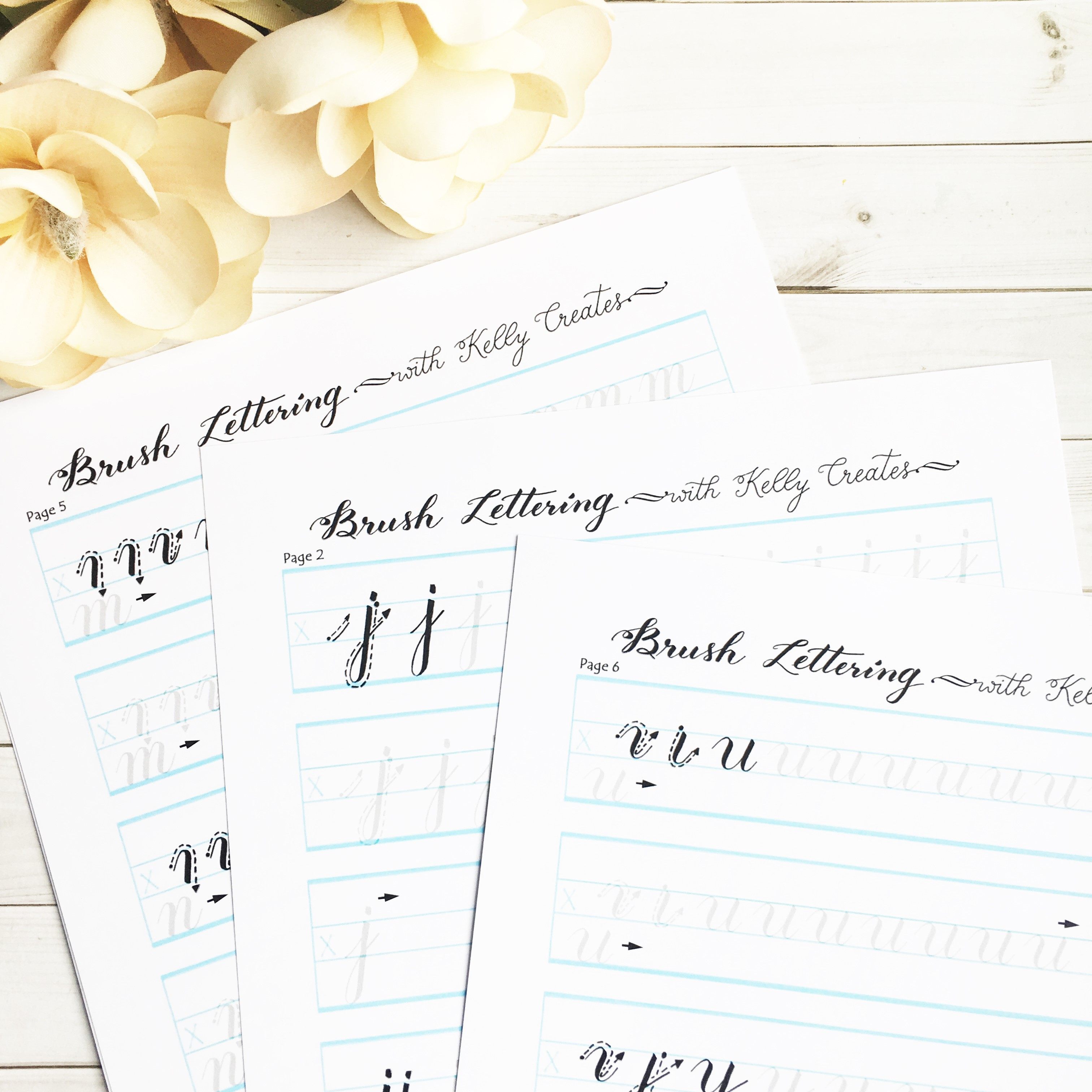 NEW Practice Worksheets Available for Smaller Brush Pens ...