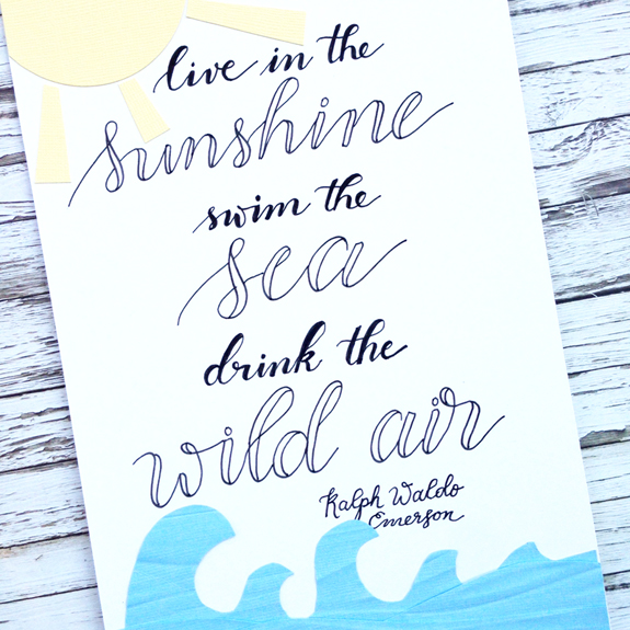 @kellycreates @bazzillbasics @sakuraofamerica #home #decor #quote #emerson #cardstock
