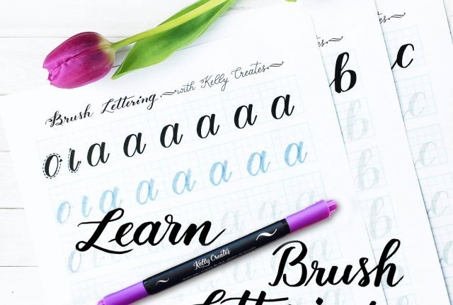 Learn Brush Lettering And Calligraphy With Pens The Best Worksheets Tracing Templates Will