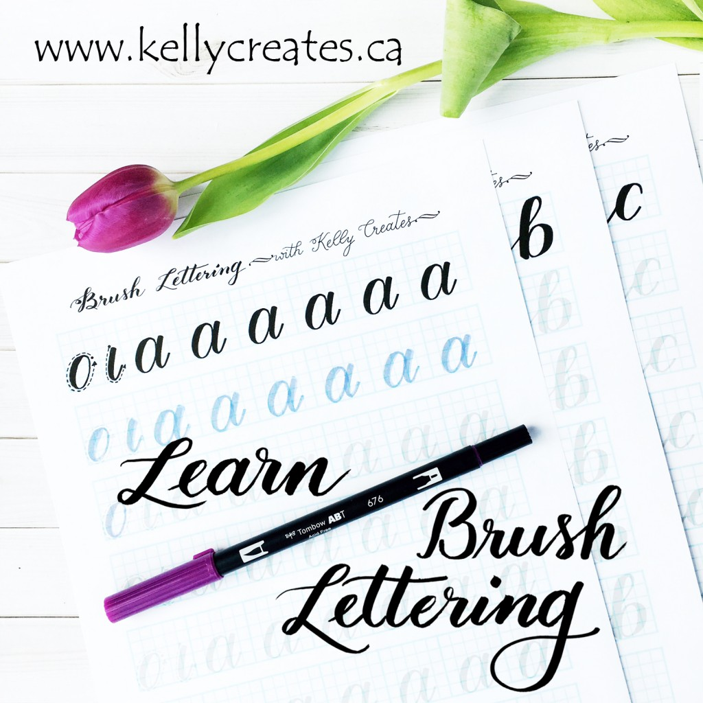 @kellycreates #brushlettering #brushcalligraphy #handlettering #guide #learn #worksheets #practice #script