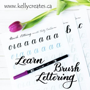 @kellycreates #brushlettering #brushcalligraphy #handlettering #guide #learn #worksheets #practice #script