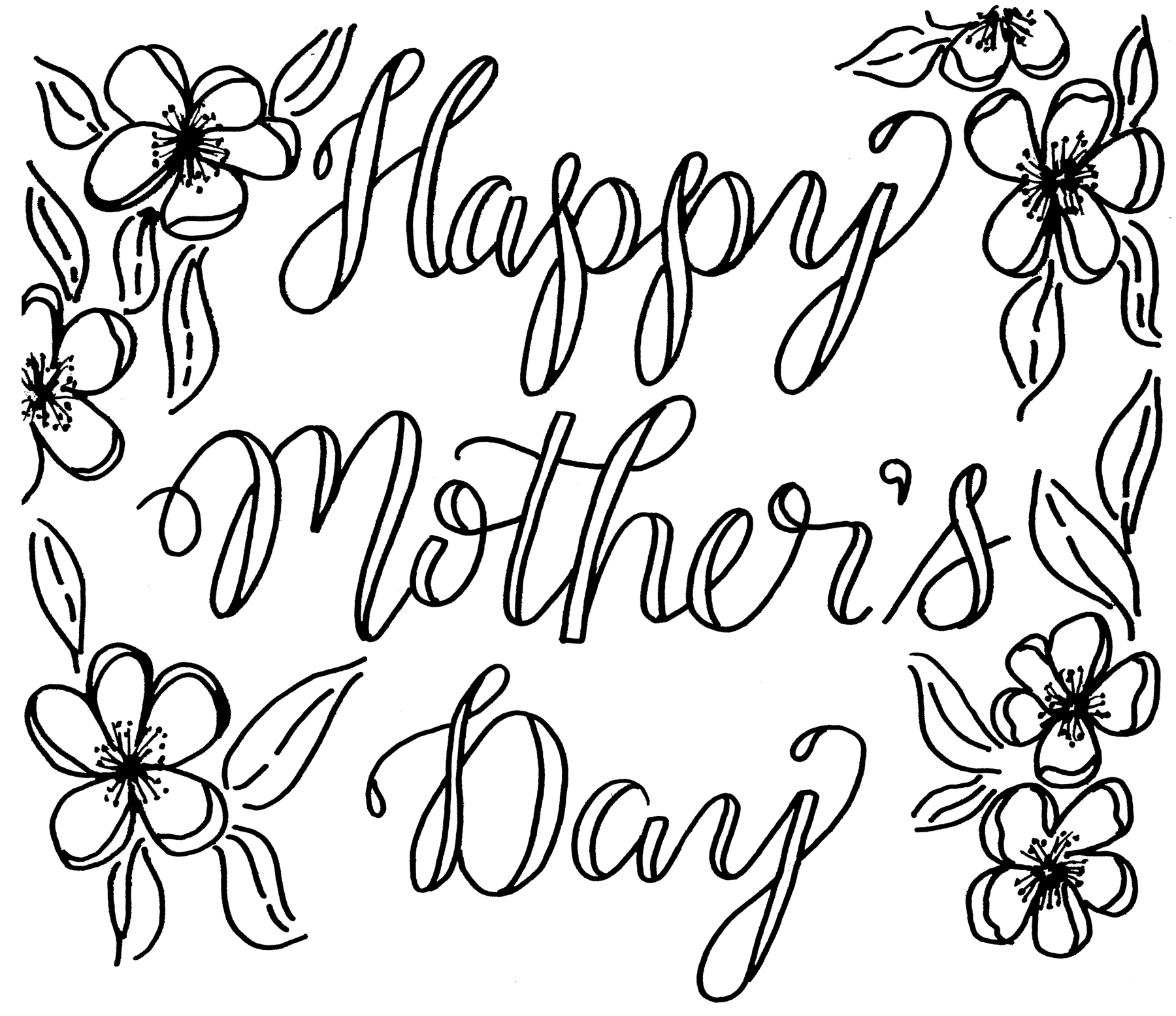 Free Mothers Day Coloring Card  Kelly Creates