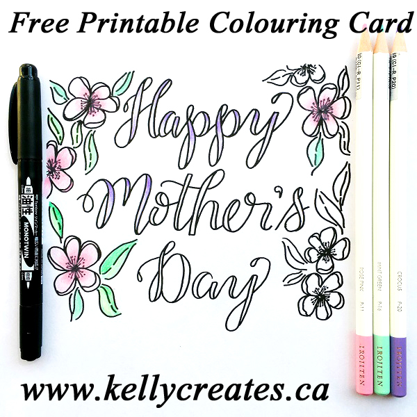 @kellycreates @tombowusa #irojitenpencils #TombowPro #coloring #card #mothersday