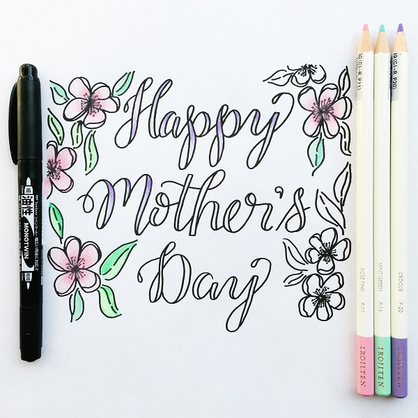 @kellycreates @tombowusa #mothersday #free #coloring #printable #download #card #irojitenpencils