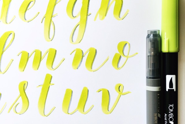 Brush Lettering Alphabet with the Tombow Dual Brush and Fude Twin Tip @kellycreates @tombowusa #brushlettering #lettering #alphabet #learn #calligraphy