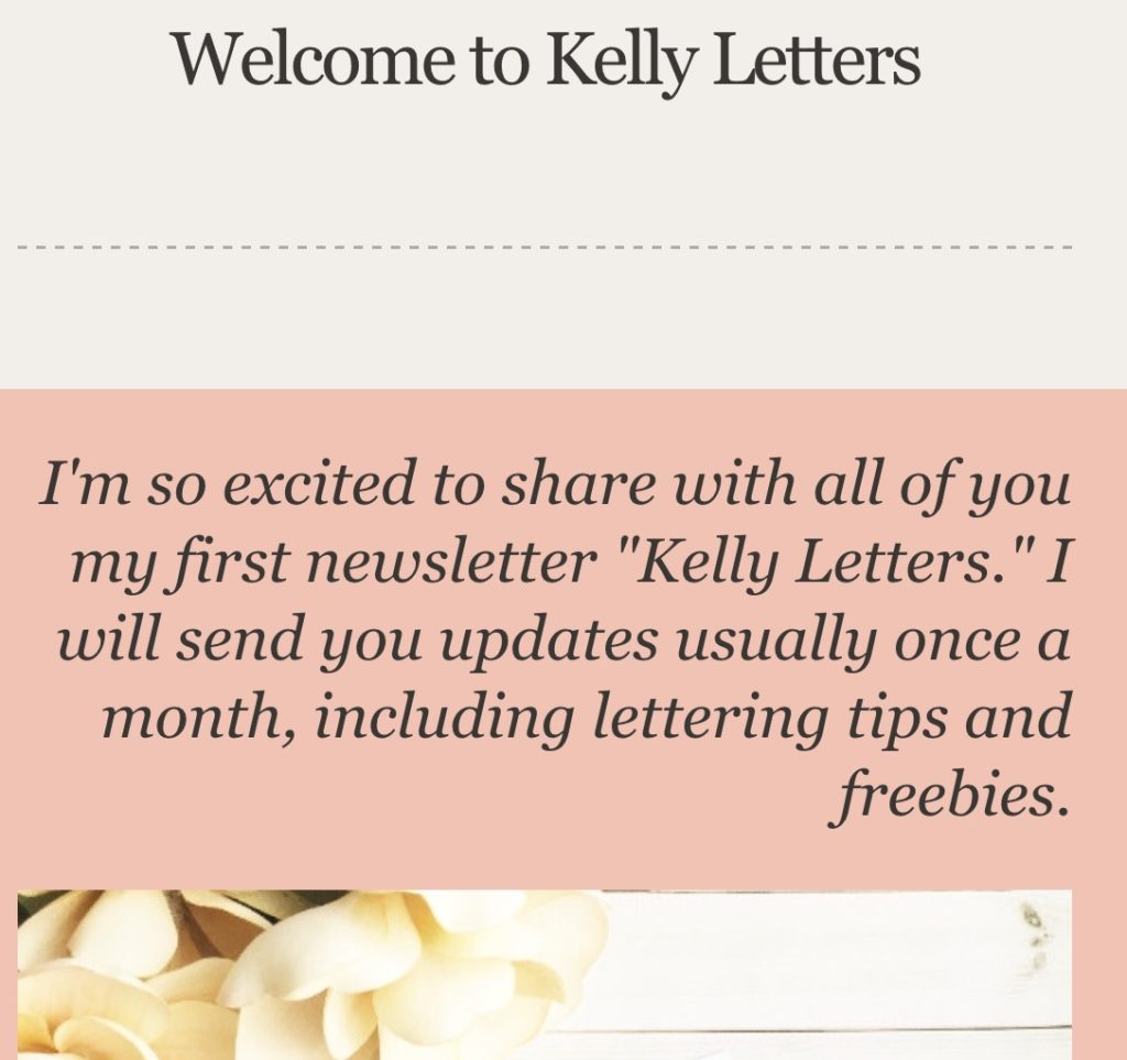 @kellycreates #newsletter #kellyletters #freebie #june #2016 #brushlettering #learn #calligraphy