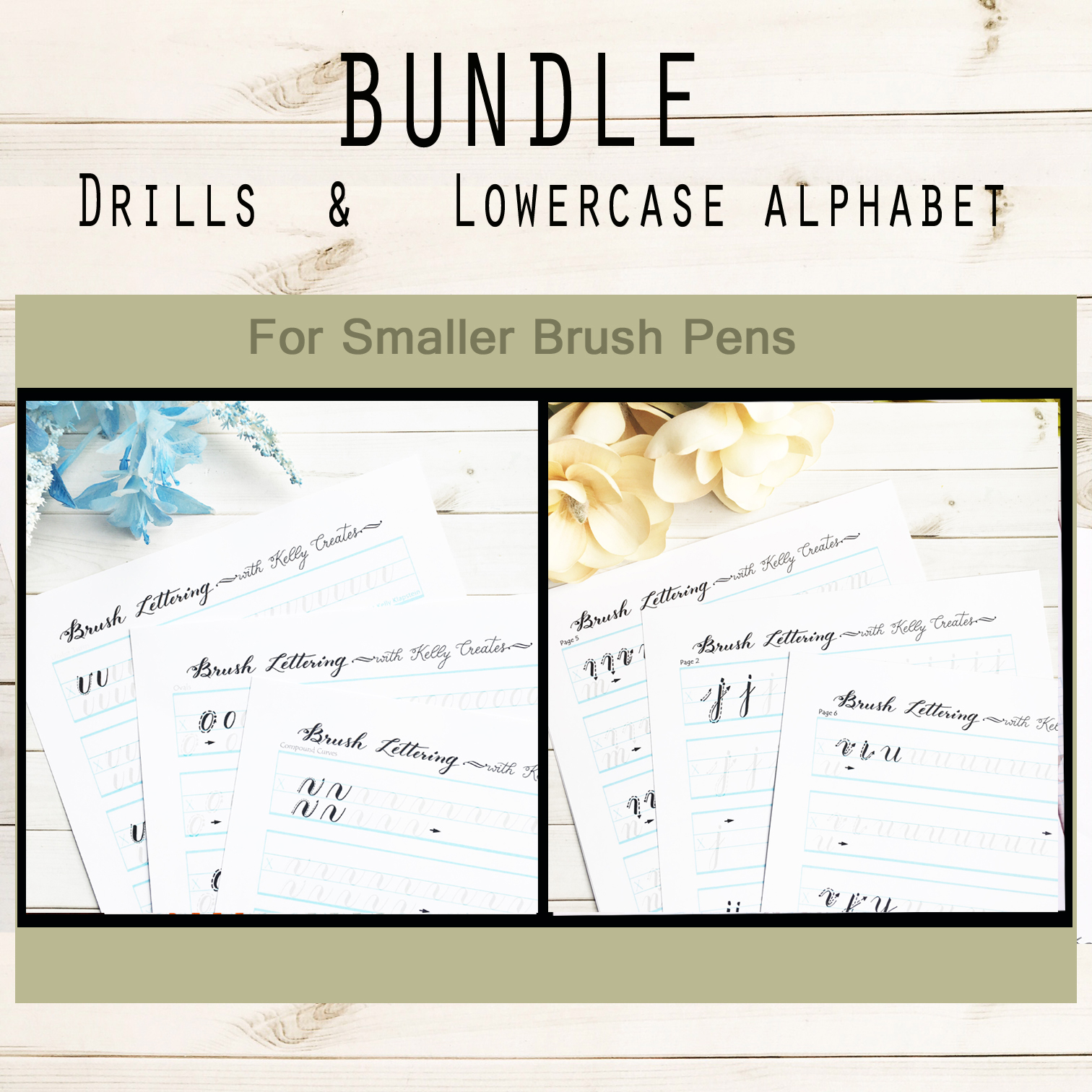 BUNDLE: Drills & Lowercase Alphabet for Small Brush Pens | Kelly ...