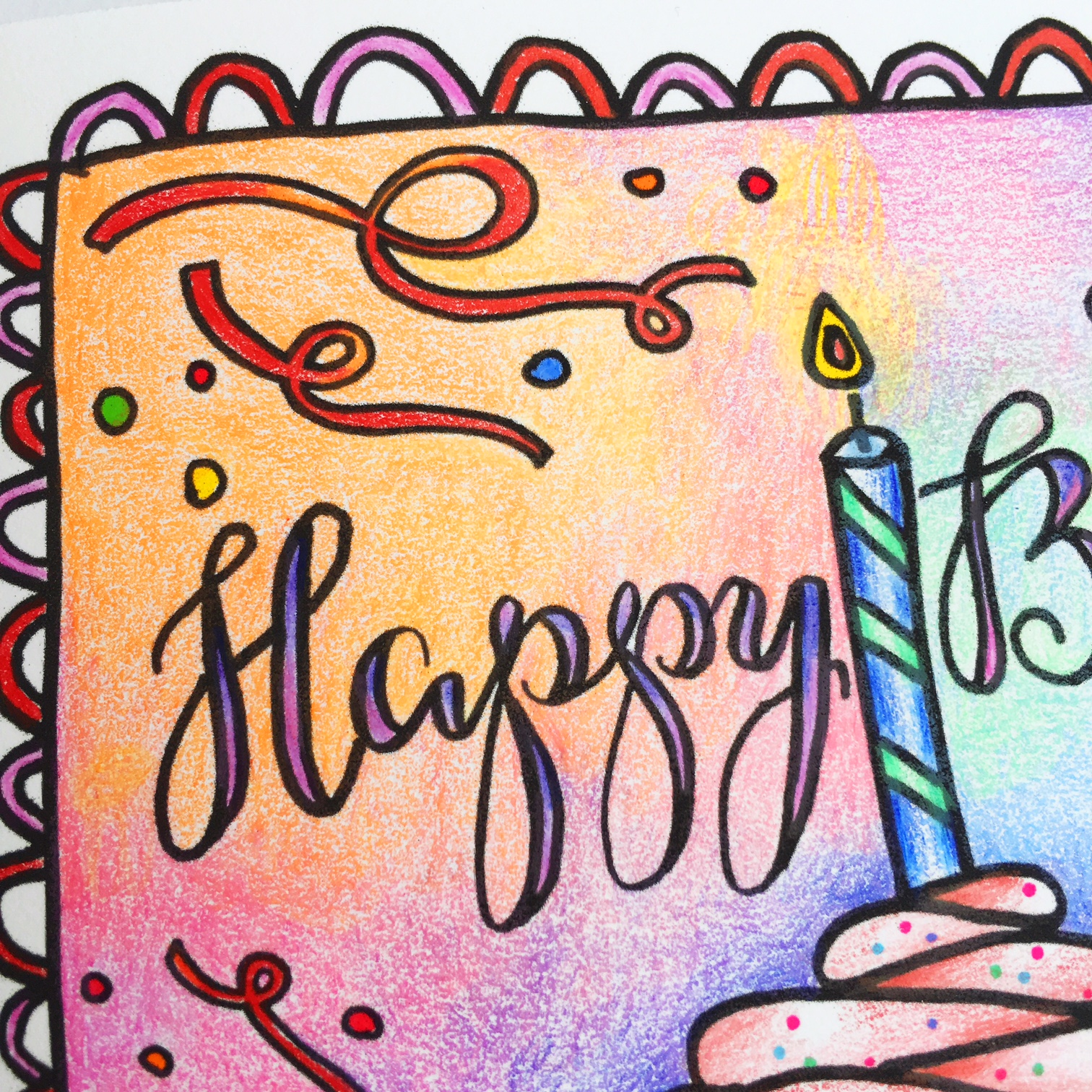 Colouring GIVEAWAY & FREE Birthday Card
