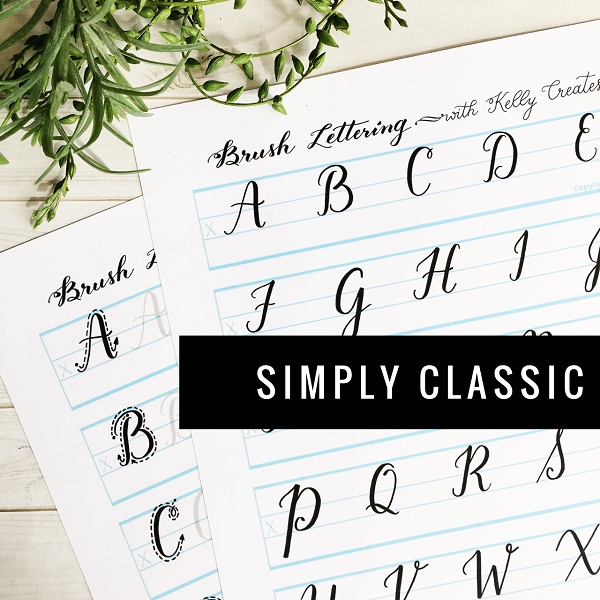 Kellycreates Learn Brush Lettering Calligraphy Moderncalligraphy Guide Practice
