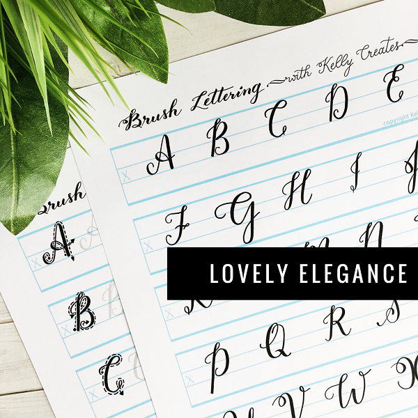 """Uppercase """"lovely elegance for small brush pens i"""