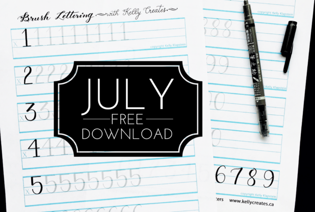 @kellycreates #brushlettering #learn #free #guide #worksheets #practice #calligraphy