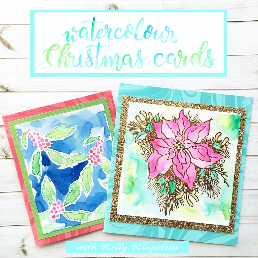 2016 carnival ad kellyklapstein watercolour xmas cards