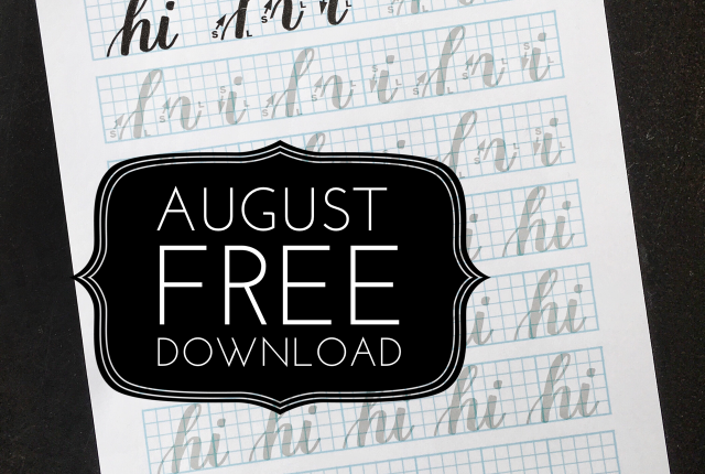 @kellycreates #freebie #free #download #worksheet #practice #guide #brush #lettering #handlettering #script