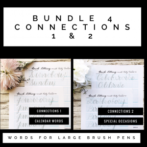 @kellycreates #kellyletters #brushlettering #calligraphy #worksheets #learn #words #connections #lettering