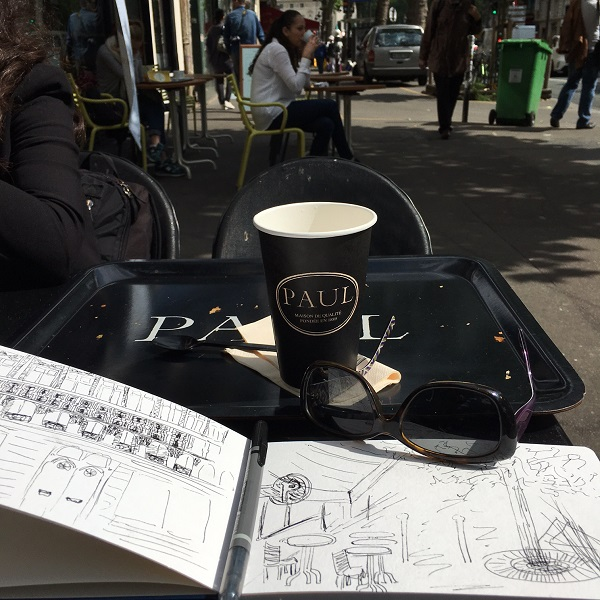 @kellycreates #paris #france #europe #urbansketch #art