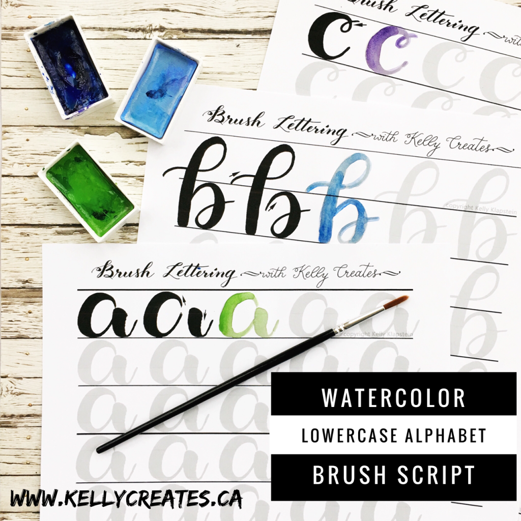 @kellycreates #calligraphy #brushlettering #lettering #watercolor #paint #painting #script #learn #worksheets #practice #guide