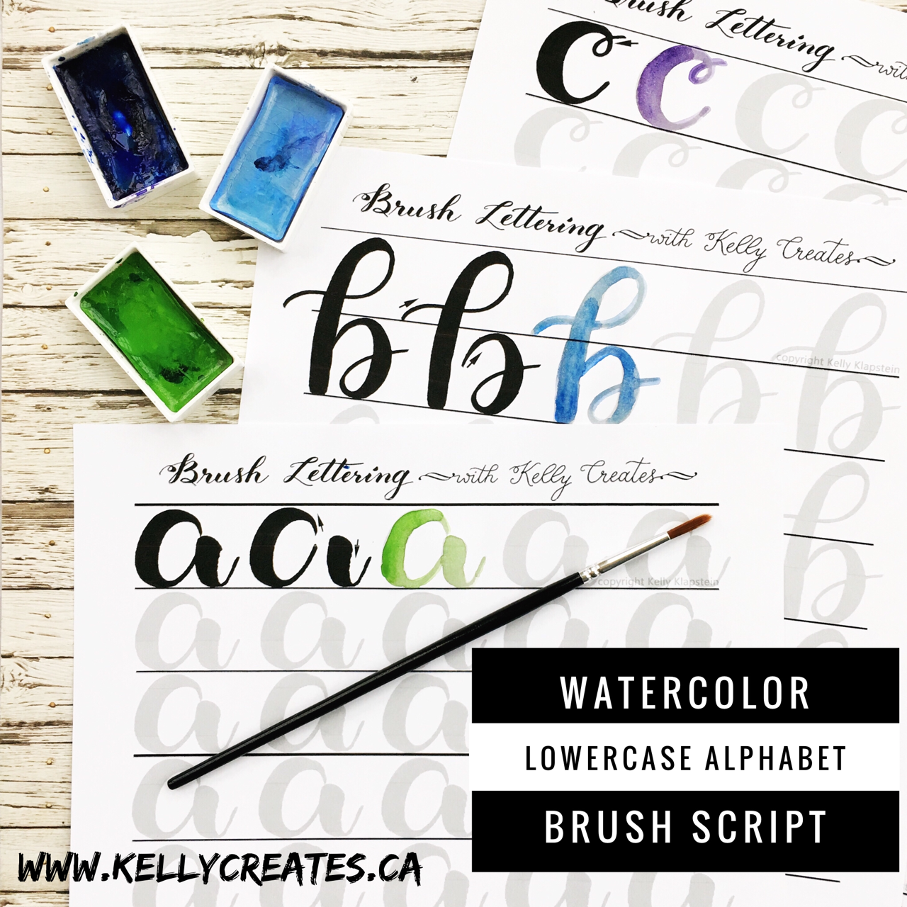 Watercolor Brush Lettering Worksheets have Arrived ...