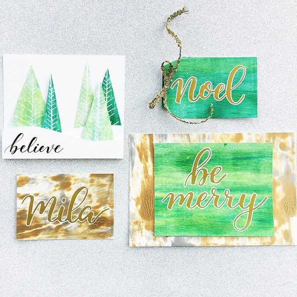 @kellycreates @gelliarts #mixedmedia #christmas #holiday #tag #card #cardmaking #paint #calligraphy #brushlettering #lettering