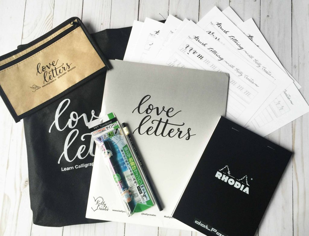 @kellycreates #kellyletters #brushlettering #learn #calligraphy #kit #worksheets #guides #templates