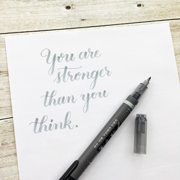 @kellycreates @rupikaur_ @tombowusa #milkandhoney #poetry #calligraphy #brushlettering Tombow Fudenosuke Twin Tip brush pen