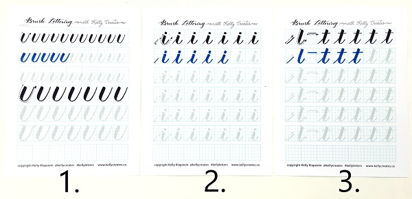 Brush Lettering Alphabet Printable Practice Sheets | calligraphy ...