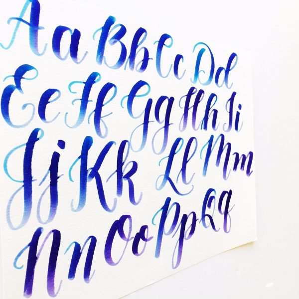 Calligraphy with capital letters video freebies kelly