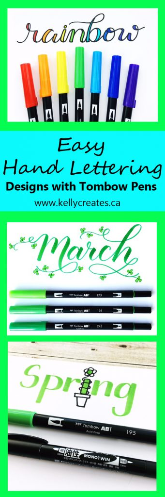 @kellycreates @tombowusa #tombow #dualbrushpens #lettering #calligraphy #brushlettering Learn Faux calligraphy technique with this easy tutorial