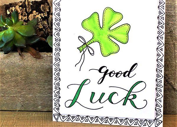 @kellycreates @csmscrapbooker #card #cardmaking #shamrock #goodluck #luck #stpatricksday @chameleonpens